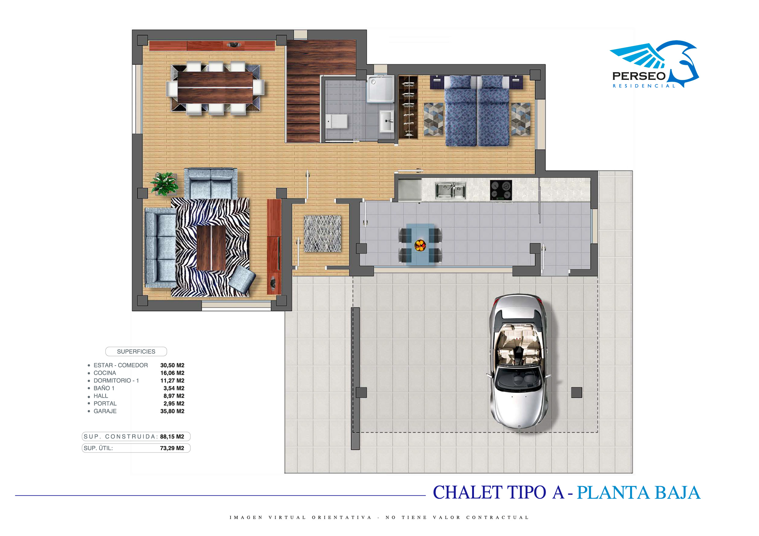 Residencial Perseo - Chalet A - PB-01