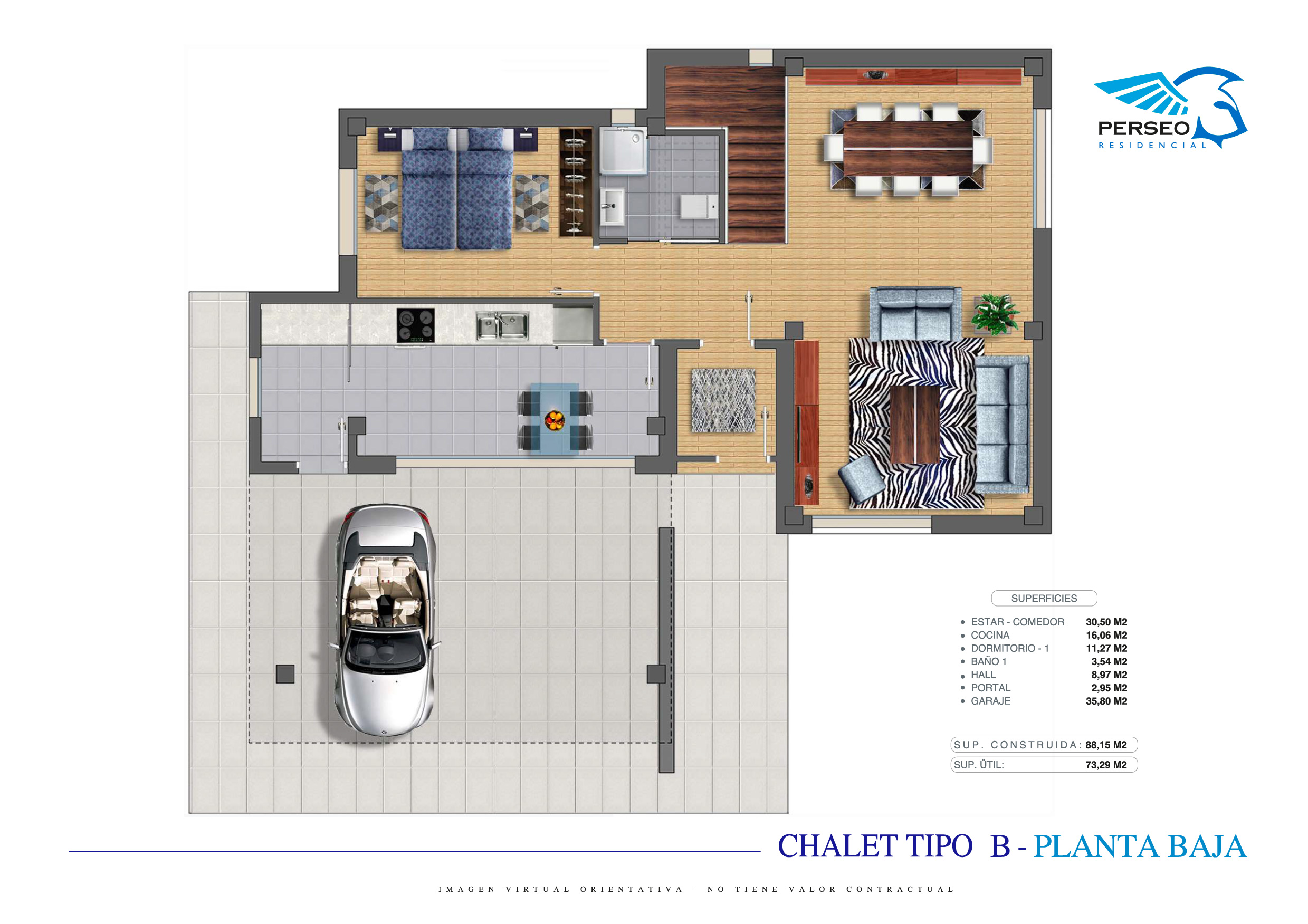 Residencial Perseo - Chalet B - P1-01